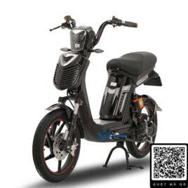 xe đạp điện Alpha Osakar đen bạc