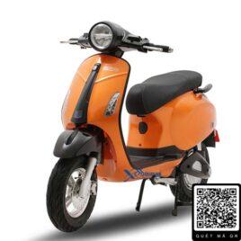 xe máy điện vespa nispa sv osakar màu cam đen